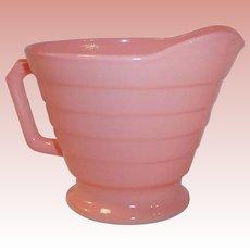 1950's Hazel Atlas Moderntone Pastel Pink Creamer