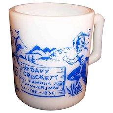 Hazel Atlas Davy Crockett Kiddie Milk Mug