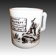 Hazel Atlas Davy Crockett Kiddie Milk Mug