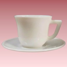 1950's Hazel Atlas Platonite White Demitasse Set