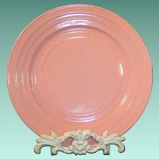 "Hazel Atlas Shell Pink Moderntone 8 7/8"" Dinner Plate"