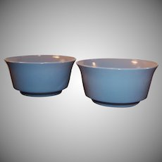 "Set of 2: Hazel Atlas Moderntone Sierra 5"" Gray Bowls"