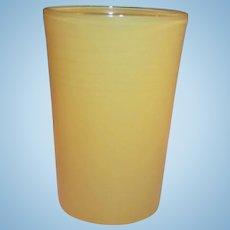 Yellow 5 oz. Hazel Atlas Rainbow Juice Tumbler