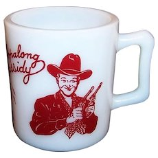 1950's Red Hopalong Cassidy Milk Mug