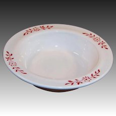 "Hazel Atlas Ovide Platonite 4 3/4"" Fruit / Berry Bowl"