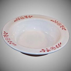 "Hazel Atlas Ovide Platonite 4 3/4"" Fruit / Berry Bowl"