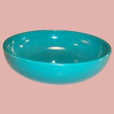 "Hazel Atlas Moderntone Sierra 6"" Turquoise Salad / Soup Bowl"
