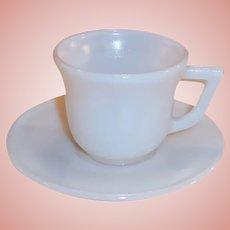 1950's Hazel Atlas Platonite White Demitasse / Espresso Set