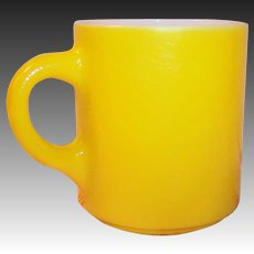 Cheerful Yellow Pebble Texture Hazel Atlas Mug