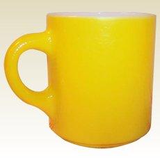 Cheerful Yellow Pebble Texture Hazel Atlas Mug