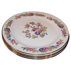"SET of 4:  Excellent 10 1/8"" Homer Laughlin Bristol Dinner Plates"