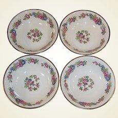 1940's Homer Laughlin Bristol SET of 4 Fruit ( Dessert) Bowls