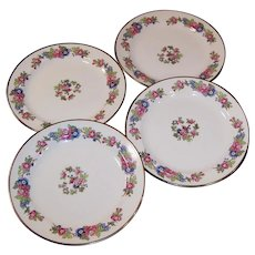 "1940's Homer Laughlin Bristol SET of Four 7 1/4""  Salad Plates"