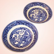 "TWO 5"" Homer Laughlin Blue Willow Dessert or Fruit Bowls"