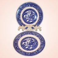 "TWO 6 1/4"" Homer Laughlin Blue Willow Dessert Plates"