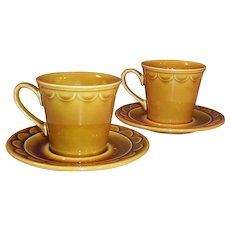 SET OF 2: 1960's Granada Coventry Castilian Harvest Gold Cups and Saucers