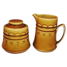 1960's Granada Coventry Castilian Harvest Gold Creamer & Sugar
