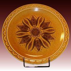 """1960's Homer Laughlin Granada Golden Harvest 10 1/4"""" Dinner Plate"""