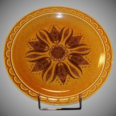 "1960's Homer Laughlin Granada Golden Harvest 10 1/4"" Dinner Plate"