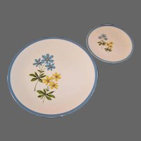 Homer Laughlin Color Harmony Blue Duchess Dinner and Bread Plate