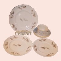 Early 1900's Homer Laughlin Hudson Service for One (5 pieces)