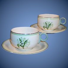 Laughlin Swing Lily of the Valley  Cup & Saucer Sets