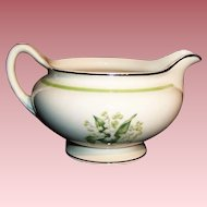 Laughlin: Lily of the Valley  Eggshell Nautilus Creamer