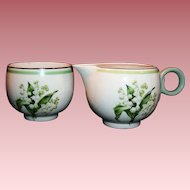 Homer Laughlin Lily of the Valley Demitasse Creamer & Sugar