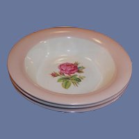 Homer Laughlin Swing Moss Rose Cereal Bowl (3  Available)