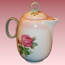 Homer Laughlin Moss Rose Demitasse Coffee / Tea Pot
