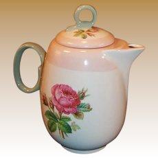 Homer Laughlin Moss Rose Demitasse Coffee / Tea Pot