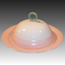 Homer Laughlin Swing Pink Organdy Muffin / Pancake Server