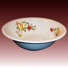 Large & Deep Serving Bowl Homer Laughlin Poppy & Rose