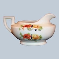 Homer Laughlin Kwaker Poppy & Rose Creamer