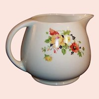 RARE Homer Laughlin Poppy & Rose 56 OZ Pitcher Jug