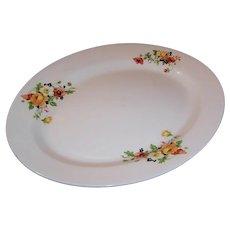 Large Homer Laughlin Poppy & Rose Serving Platter