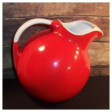 Hall's Superior Quality Bright Red Ball Pitcher