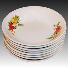 Homer Laughlin Poppy & Rose Berry or Fruit Bowls (1 SET OF FOUR Available)