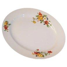 Excellent! Homer Laughlin Poppy & Rose Kwaker Platter