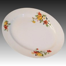 Excellent! Homer Laughlin Poppy & Rose Kwaker Platter