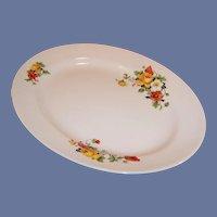 Homer Laughlin Kwaker Poppy & Rose  Platter