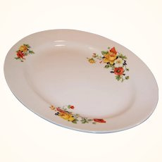 Homer Laughlin Kwaker Poppy & Rose  Platter