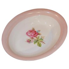 Homer Laughlin Swing Moss Rose Oval Serving Bowl
