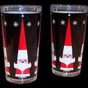 Set of 2: Howard Holt  Santa Claus and Snowflake Tumblers