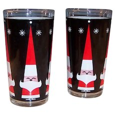Set of 2: Howard Holt  Santa Claus and Snowflake Tumblers