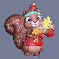 Hallmark Fall Autumn Squirrel Pin