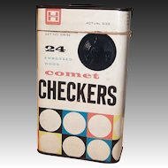 Halsam Comet Checkers Tin