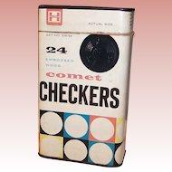 Halsam Comet Checkers Tin
