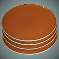 "SET OF 4: Iroquois China Ben Seibel Informal HARVEST TIME 8"" Plates"