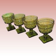 SET OF 4: Colony Glass Park Lane Desserts / Sherbets